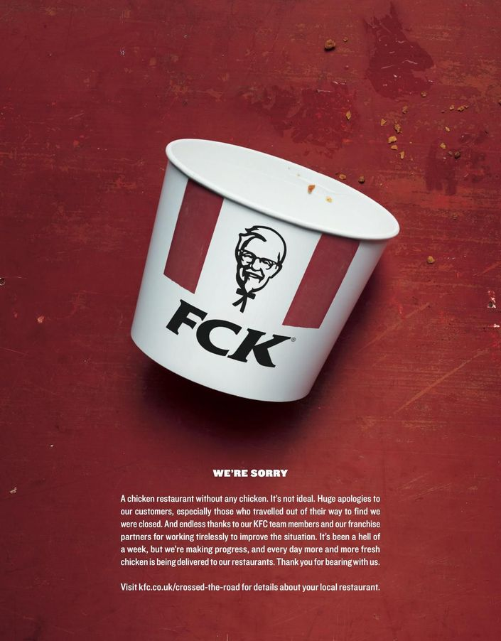 best print ad from KFC