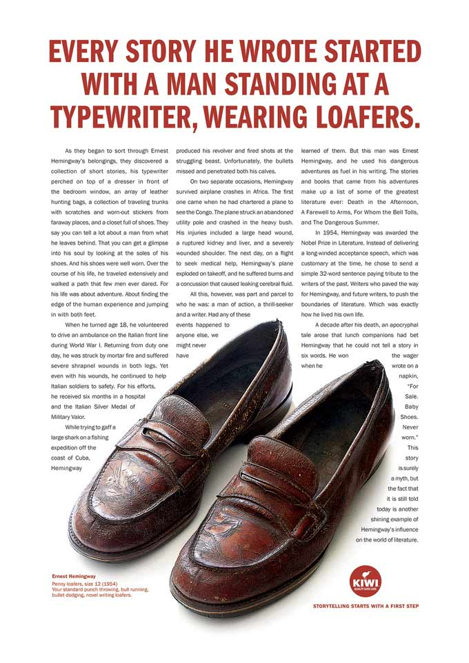 best print advertisement shoes